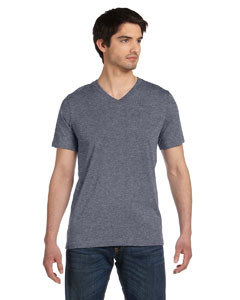 Deep Heather Unisex Jersey Short-Sleeve V-Neck T-Shirt