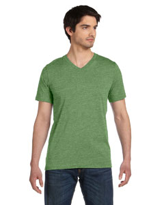 Heather Green Unisex Jersey Short-Sleeve V-Neck T-Shirt