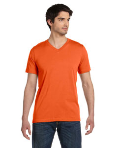 Orange Unisex Jersey Short-Sleeve V-Neck T-Shirt