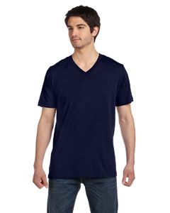 Navy Unisex Jersey Short-Sleeve V-Neck T-Shirt