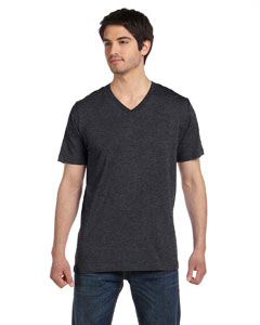 Dk Grey Heather Unisex Jersey Short-Sleeve V-Neck T-Shirt