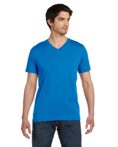 Neon Blue Unisex Jersey Short-Sleeve V-Neck T-Shirt