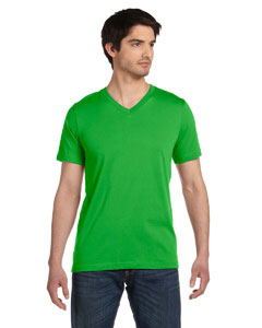 Neon Green Unisex Jersey Short-Sleeve V-Neck T-Shirt