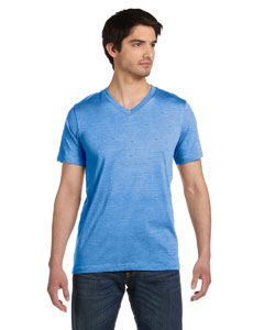 True Royal Mrble Unisex Jersey Short-Sleeve V-Neck T-Shirt
