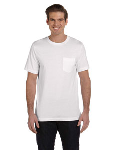 White Men's Jersey Short-Sleeve Pocket T-Shirt