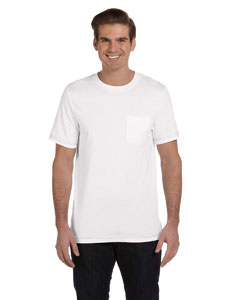 White/ath Hthr Men's Jersey Short-Sleeve Pocket T-Shirt