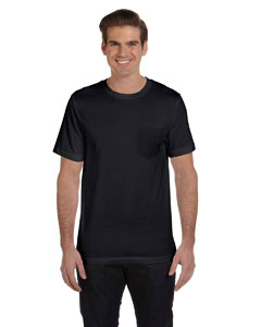 Black Men's Jersey Short-Sleeve Pocket T-Shirt