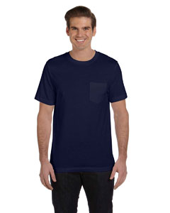 Navy Men's Jersey Short-Sleeve Pocket T-Shirt