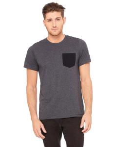 Drk Gry Htr/ Blk Men's Jersey Short-Sleeve Pocket T-Shirt