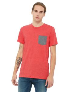 Hthr Red/ Dp Hth Men's Jersey Short-Sleeve Pocket T-Shirt