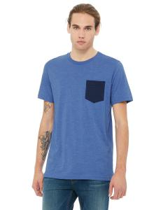 Hthr Tr Roy/ Nvy Men's Jersey Short-Sleeve Pocket T-Shirt