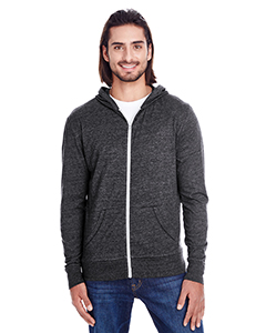 Black Triblend Unisex Triblend Full-Zip Light Hoodie