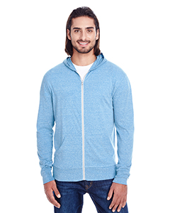 Royal Triblend Unisex Triblend Full-Zip Light Hoodie