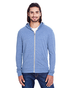 Navy Triblend Unisex Triblend Full-Zip Light Hoodie