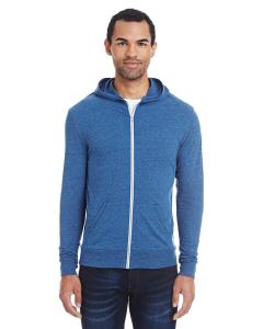 Royal Blk Trblnd Unisex Triblend Full-Zip Light Hoodie