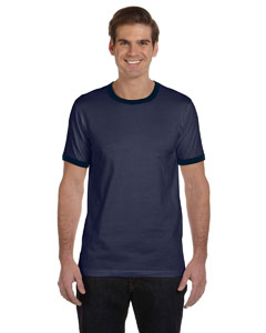 Heather Nvy/midnight Men's Jersey Short-Sleeve Ringer T-Shirt