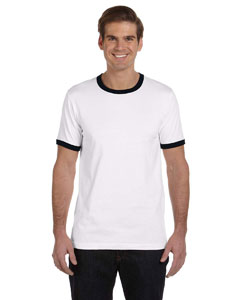 White/black Men's Jersey Short-Sleeve Ringer T-Shirt