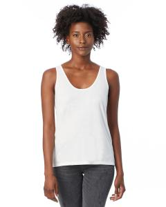 White Ladies' Slinky-Jersey Tank Top