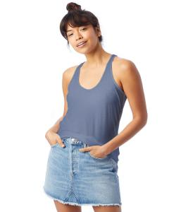 Stonewash Blue Ladies' Slinky-Jersey Tank Top