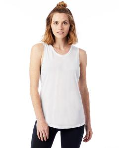 White Ladies' Slinky-Jersey Muscle Tank