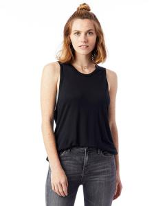 Black Ladies' Slinky-Jersey Muscle Tank