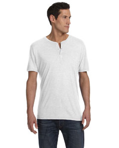 White Fleck Tribld Men's Triblend Short-Sleeve Henley