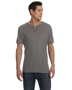 Grey Triblend Men's Triblend Short-Sleeve Henley