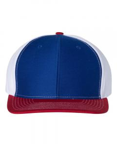 Royal/ White/ Red Twill Back Trucker Cap