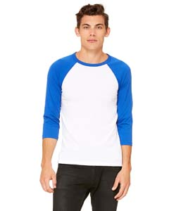 White/ Tr Royal Unisex 3/4-Sleeve Baseball T-Shirt