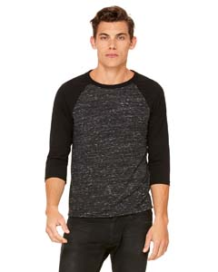 Blck Mrble/ Blck Unisex 3/4-Sleeve Baseball T-Shirt