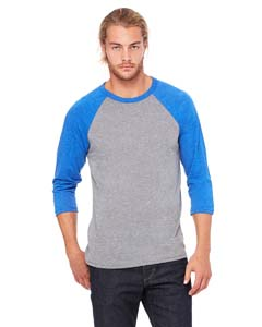 Grey/ Tr Ryl Trb Unisex 3/4-Sleeve Baseball T-Shirt