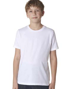 White Boys' Premium Short-Sleeve Crew Tee