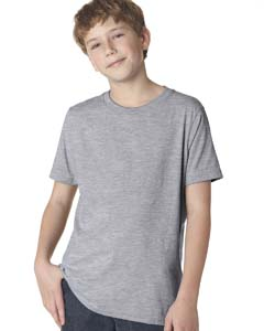 Heather Gray Boys' Premium Short-Sleeve Crew Tee