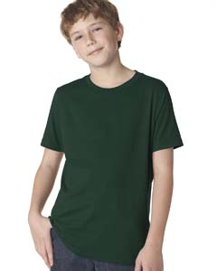 Forest Green Boys' Premium Short-Sleeve Crew Tee