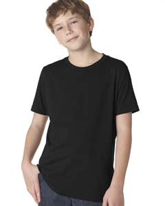 Black Boys' Premium Short-Sleeve Crew Tee