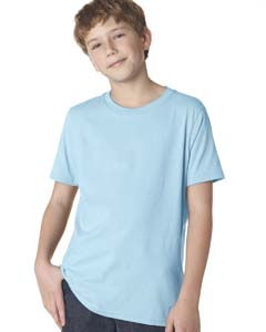Light Blue Boys' Premium Short-Sleeve Crew Tee