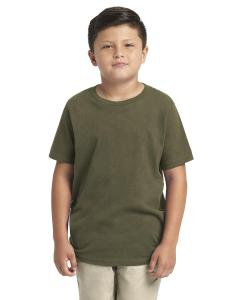 Military Green Youth Premium Short-Sleeve Crew Tee