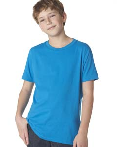 Turquoise Youth Premium Short-Sleeve Crew Tee