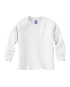White Toddler 5.5 oz. Jersey Long-Sleeve T-Shirt