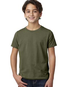 Military Green Youth CVC Crew Tee