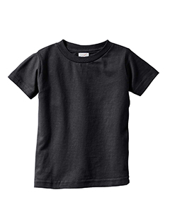 Black Infant 4.5 oz. Fine Jersey T-Shirt