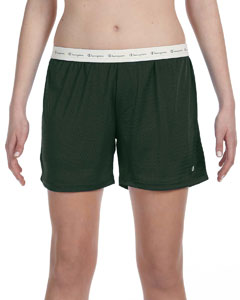 Athletic Dark Green Ladies' Active Mesh Shorts