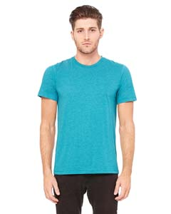 Teal Triblend Unisex Triblend Short-Sleeve T-Shirt