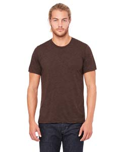 Brown Triblend Unisex Triblend Short-Sleeve T-Shirt