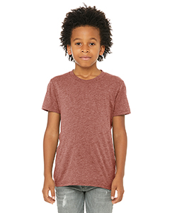 Mauve Triblend Youth Triblend Short-Sleeve T-Shirt