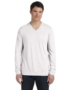 White Fleck Tribld Men's Jersey Long-Sleeve V-Neck T-Shirt