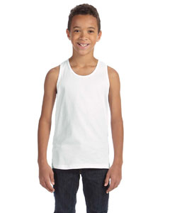 White Youth Jersey Tank