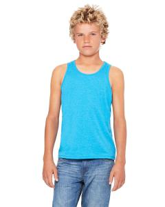 Neon Blue Youth Jersey Tank