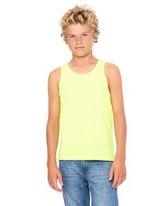 Neon Yellow Youth Jersey Tank
