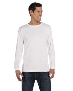 White Men's Jersey Long-Sleeve T-Shirt